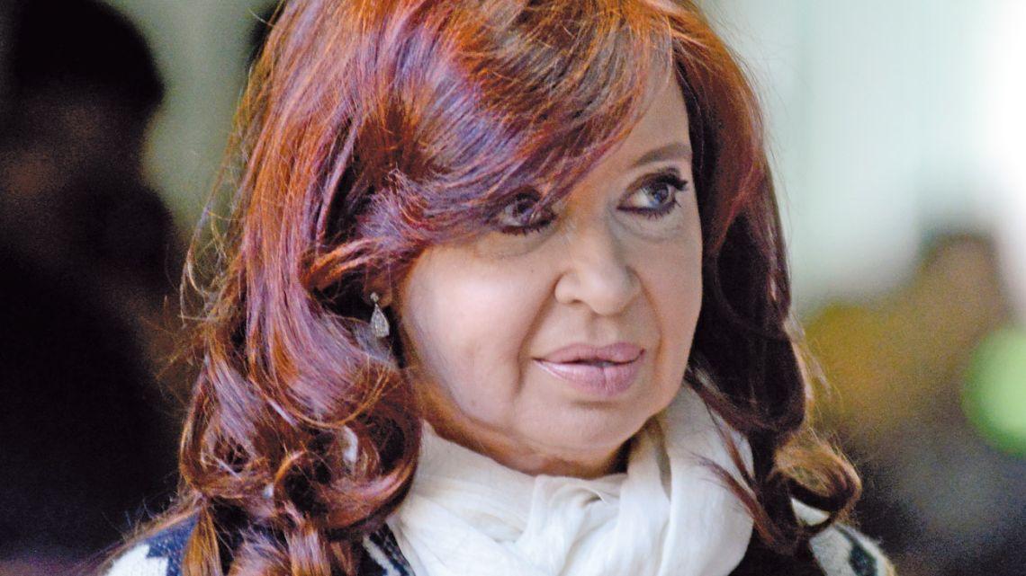 Vice-president-elect Cristina Fernámdez de Kirchner.