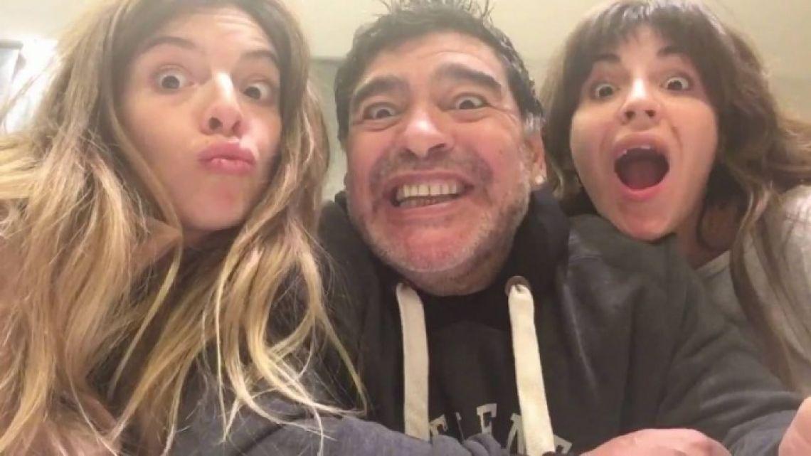 Gianinna Maradona compartió un mensaje que generó preocupación por la salud de Diego