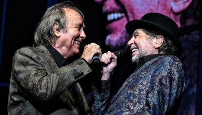 La dupla en el primer show del 2 de noviembre en el Arena.