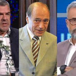 Dady Brieva, Eugenio Zaffaroni y Jorge Rial. | Foto:Cedoc.