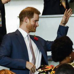 Príncipe Harry en el mundial de rugby