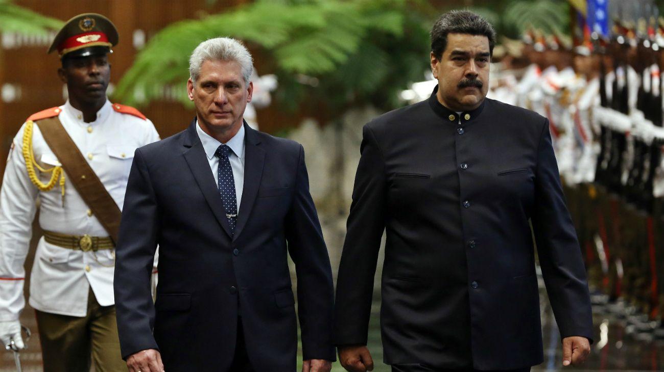 Díaz-Canel y Maduro en La Habana.