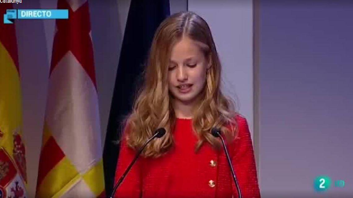 VIDEO | El discurso de la princesa Leonor en Barcelona que generó disturbios en Cataluña