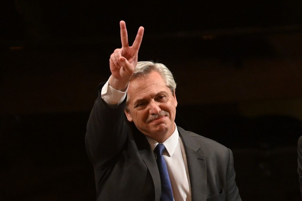 Alberto Fernández, presidente electo argentino.