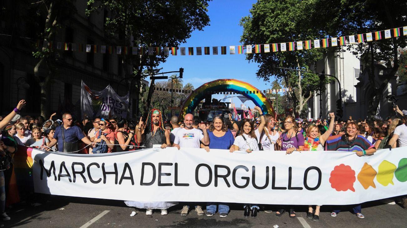 La Marcha del Orgullo celebró su 28° edición en Buenos Aires.