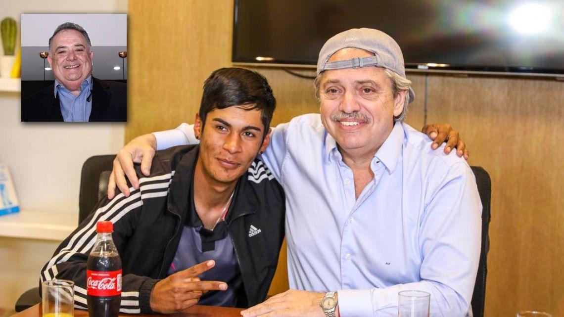 Eduardo Valdés, Brian y Alberto Fernández | Foto:cedoc