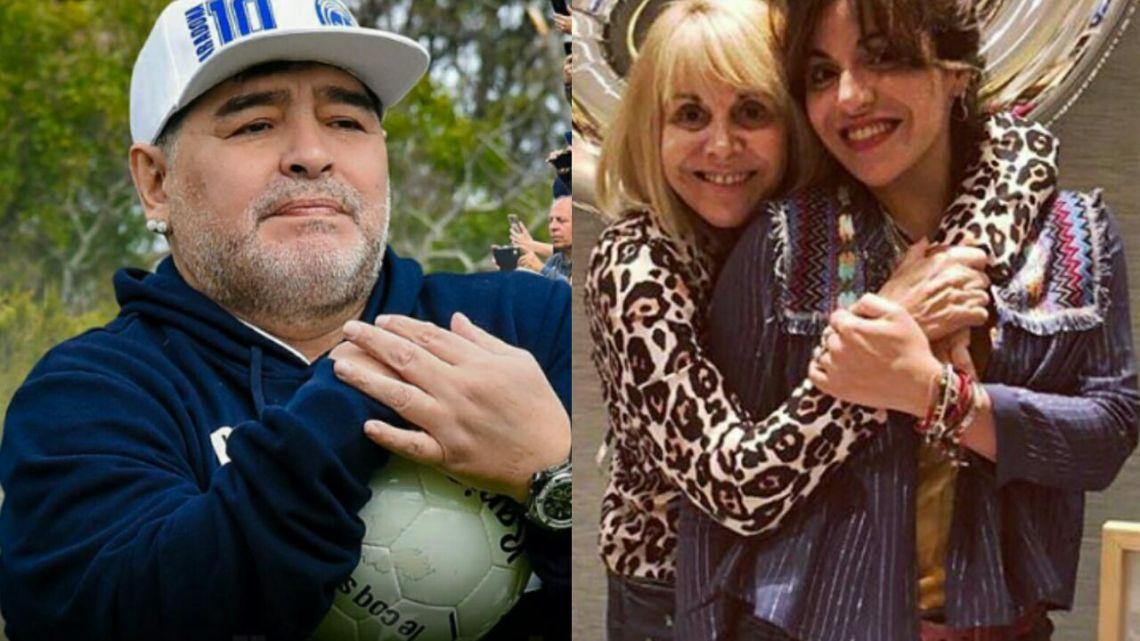 El furioso mensaje de Claudia Villafañe y Gianinna Maradona contra el Diez tras su polémico video
