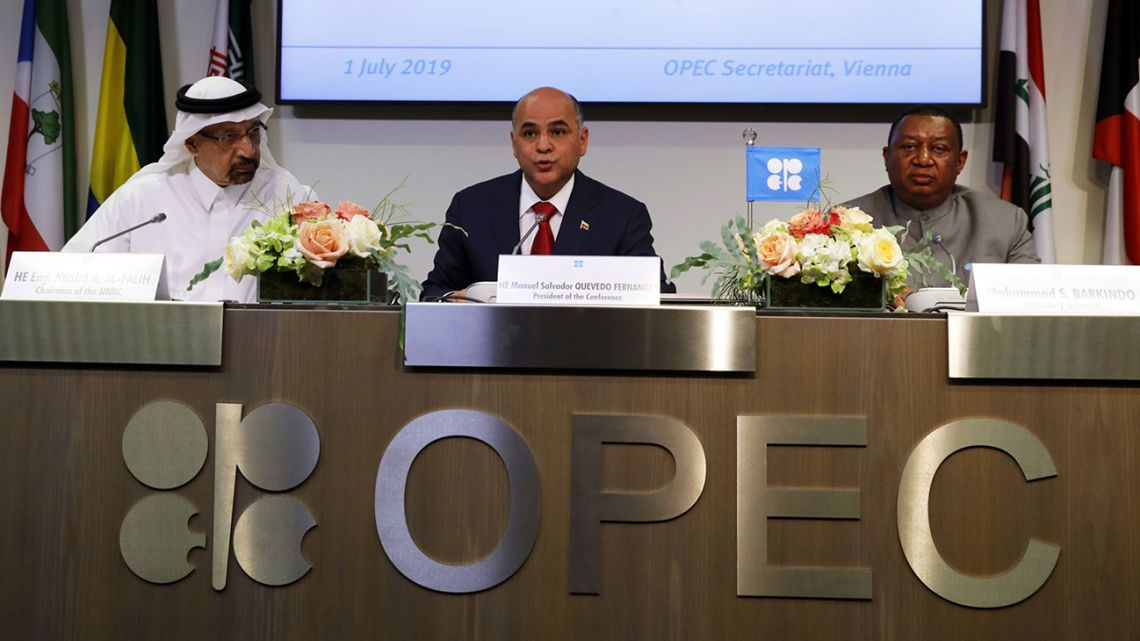 OPEC will extend production cuts into 2020 as the world's leading oil exporters fret about a weakening outlook for global demand growth and the relentless rise in output from America's shale fields.