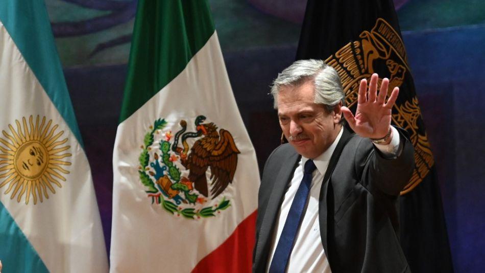 Alberto Fernández en Ciudad de México.