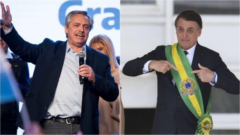 Alberto Fernández y Jair Bolsonaro.
