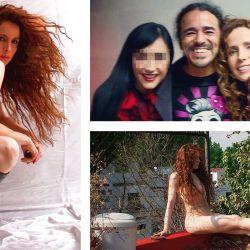 Yamina del Real es artista visual y expuso muchos de sus trabajos. (Arriba) Junto a una amiga y al cantante de Café Tacuba | Foto:Instagram