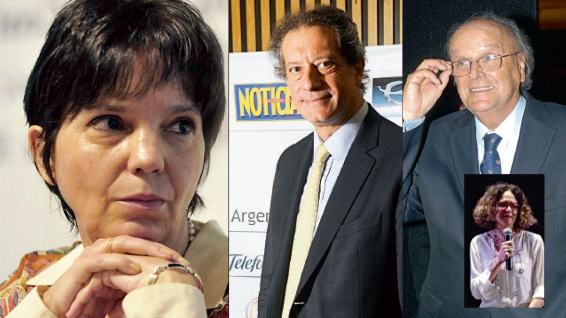 Mercedes Marcó del Pont, Miguel Pesce, José Ignacio de Mendiguren y Cecilia Todesca Bocco. | Foto:Fotos: Cedoc
