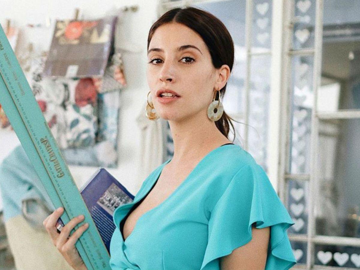 Agustina Córdova en su séptimo mes de embarazo