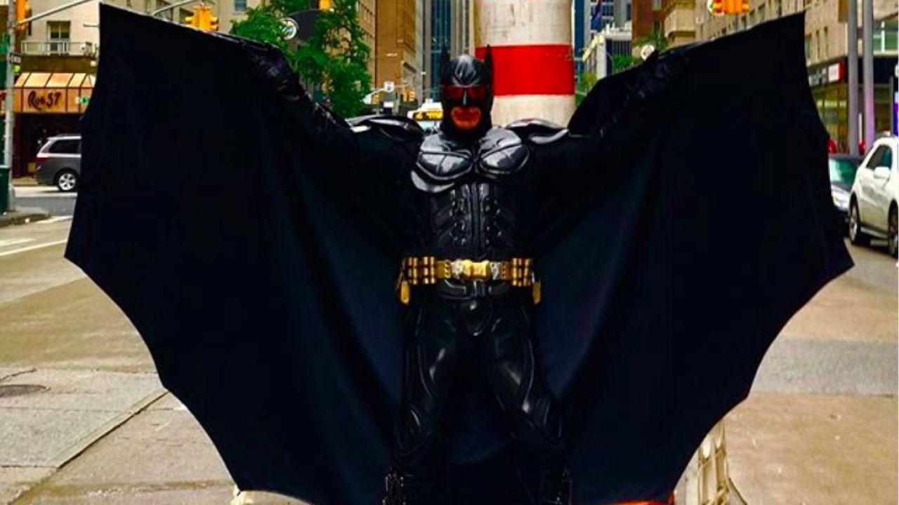 Batman de Time Square. | Foto:Cedoc.
