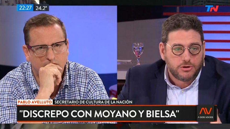 """El debate Brienza-Avelluto calentó la pantalla en """"A Dos Voces"""", por TodoNoticias."""