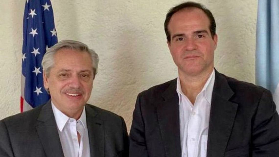 Alberto Fernández and Miguel Claver-Carone meet in Mexico City.