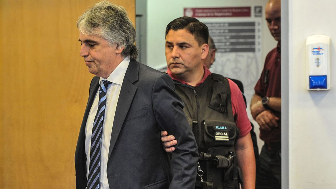 Ricardo Russo arrives in court on Wednesday.