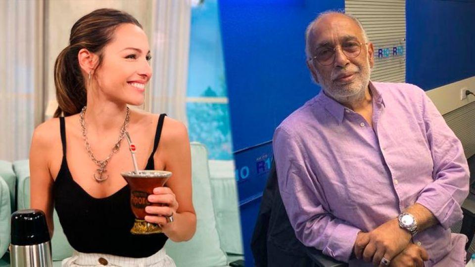 """El Negro Gonzalez Oro ninguneó a Pampita: """"Estoy apurado, tengo un programa de radio, mi amor"""""""
