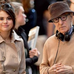 Selena Gomez y Woody Allen   Foto:Cedoc