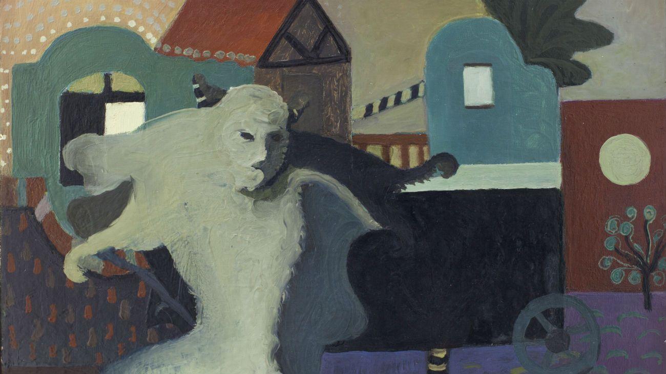 EL PASEO DEL DIABLO, 1974. Óleo sobre tela. 45 x 55 cm.