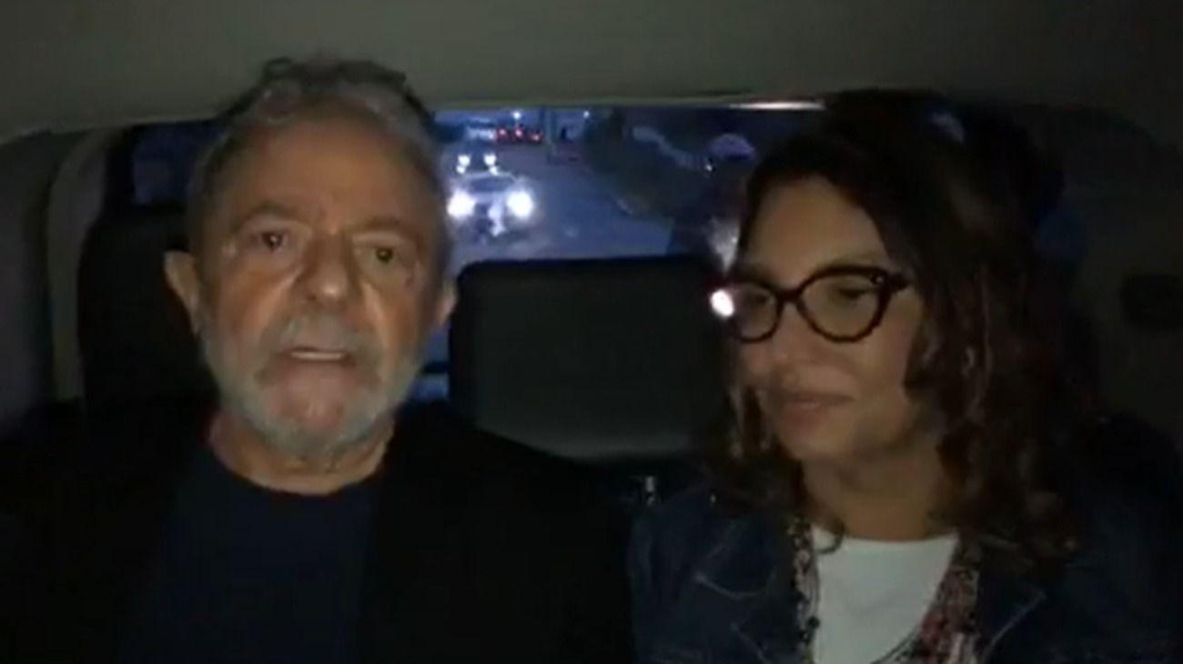 Video | El mensaje que grabó Lula al salir de la cárcel junto a su novia Janja