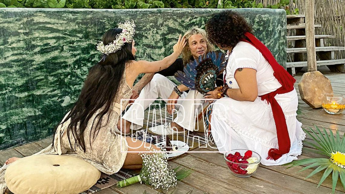 Todo lo que no viste del casamiento chamánico de Claudio Caniggia y Sofía Bonelli