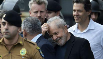 Lula da Silva, tras ser liberado de la cárcel.