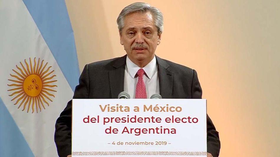 Alberto fernandez en Mexico 08112019