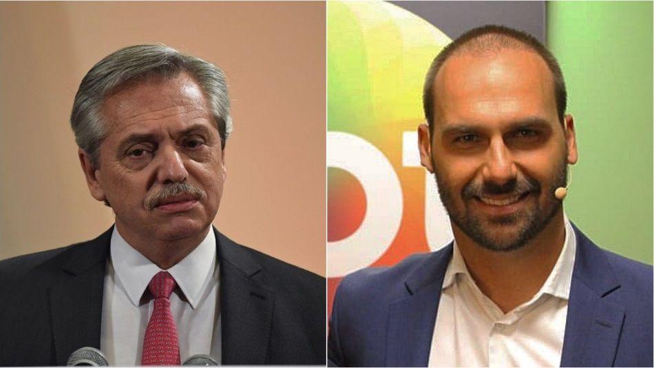 Alberto Fernández y Eduardo Bolsonaro