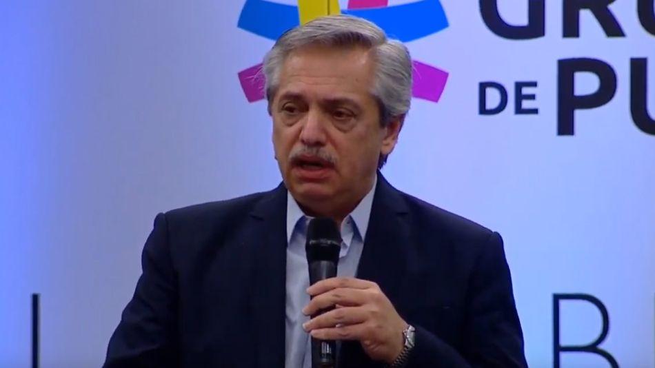 Alberto Fernández, en la inauguración de la segunda reunión del Grupo de Puebla.