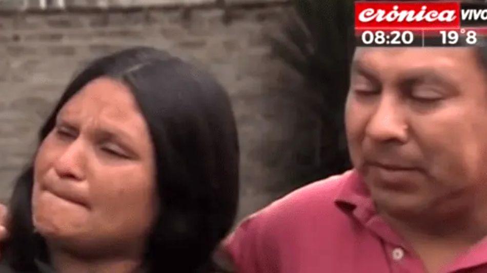 Los padres de Brisa Méndez, la chica asesinada en Pilar, desolados.
