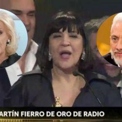"""Mirtha, Andy y """"La Negra"""" en los Martín Fierro"""