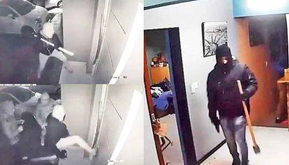 Miedo. La banda de rompepuertas que azota a La Plata fue filmada en varios golpes. Para no ser identificados utilizan capuchas y pasamontañas. Portan armas con las que amenazan a sus víctimas.