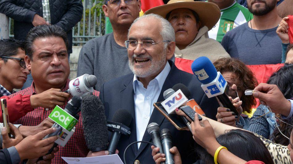 Carlos Mesa, líder opositor boliviano.