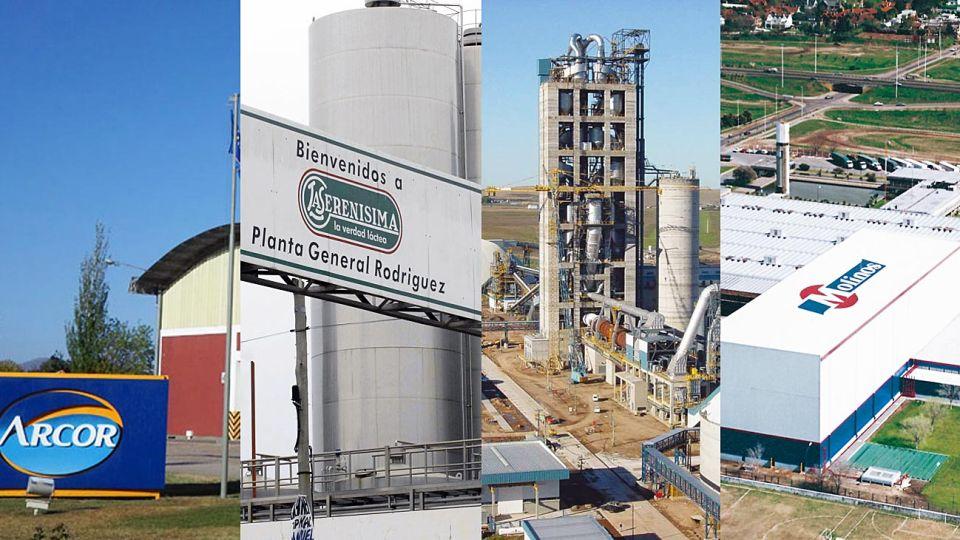 Reflejos. Las grandes empresas argentinas Arcor, Mastellone, Loma Negra y Molinos, con pérdidas, despidos y reestructuraciones.