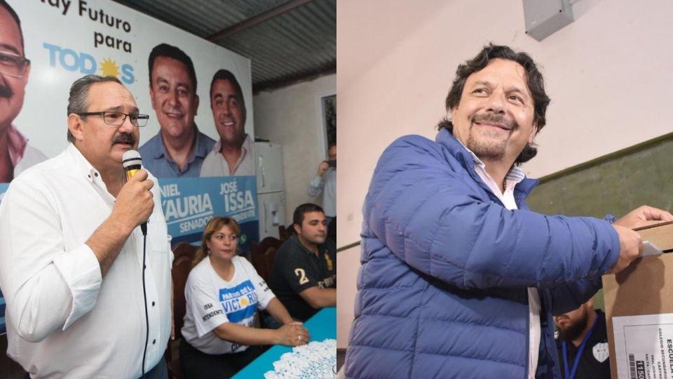 Los candidatos a gobernador en Salta, Sergio Leavy y Gustavo Sáenz