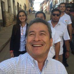 Gustavo Pedraza, compañero de fórmula de Mesa en Bolivia. | Foto:Cedoc.