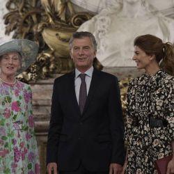 Margarita II de Dinamarca junto a Mauricio Macri y Juliana Awada | Foto:Cedoc