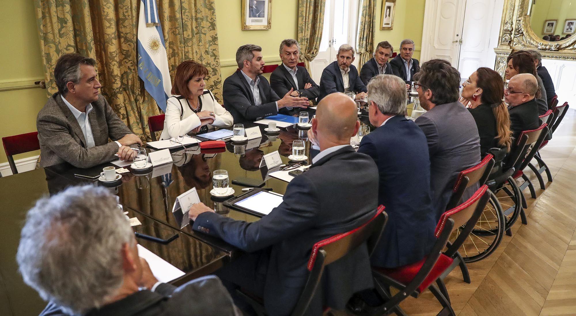 Una nueva reunión de Gabinete en Casa Rosada.
