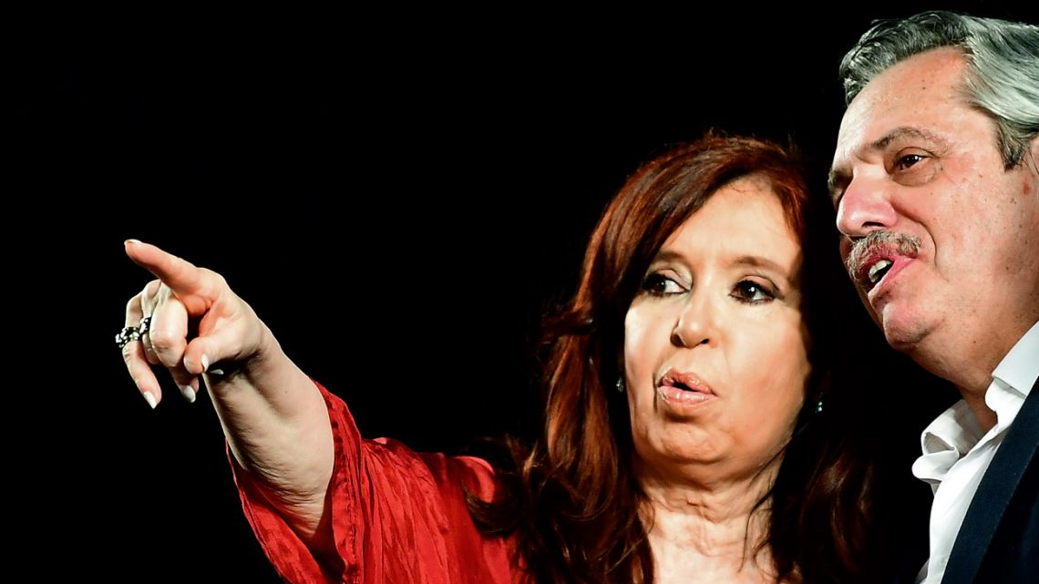 Cristina Fernández de Kirchner and Alberto Fernández.