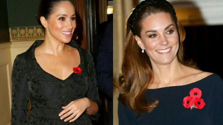 El duelo de estilos de Meghan Markle y Kate Middleton en su esperado reencuentro