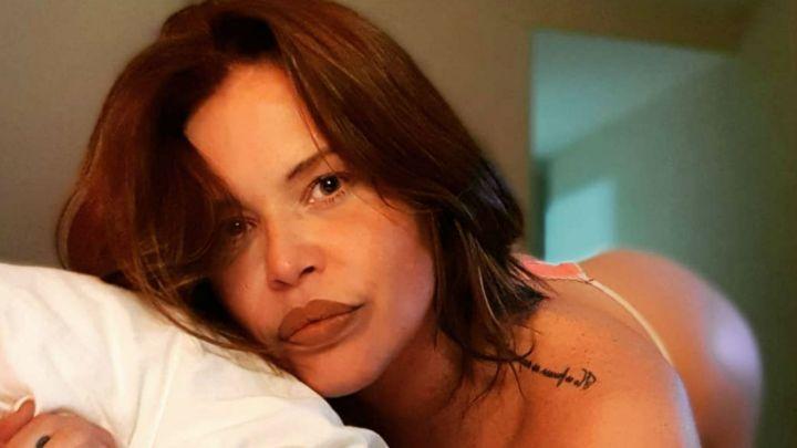 Nazarena Vélez revolucionó las redes con una foto hot en ropa interior
