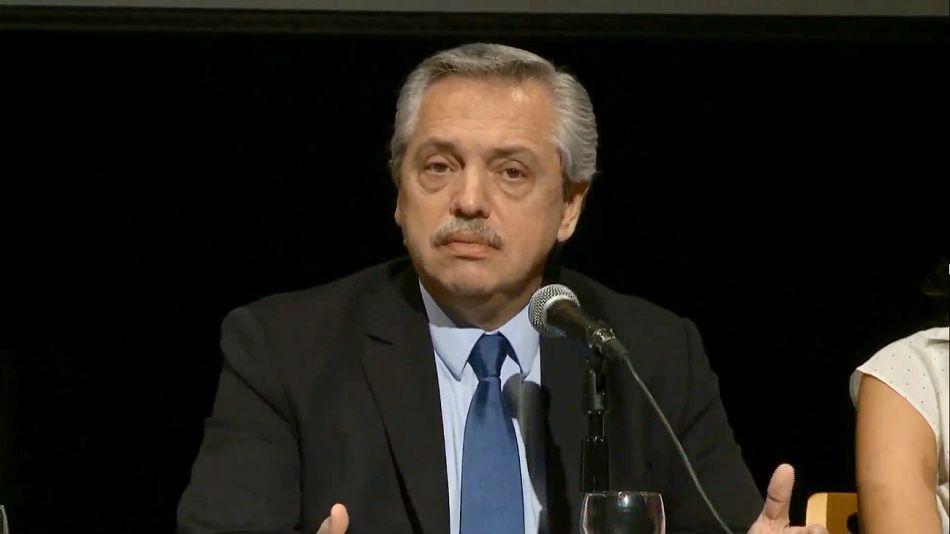Alberto Fernández, desde el Centro Cultural de la Cooperación.