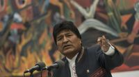 President Evo Morales Holds Press Conference Following Elections