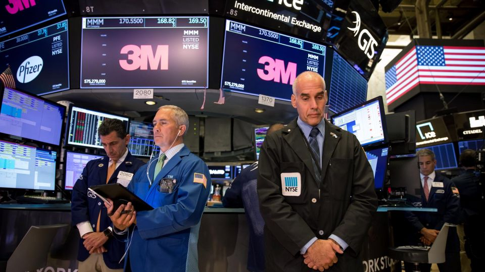 Imágenes de la Bolsa de New York.