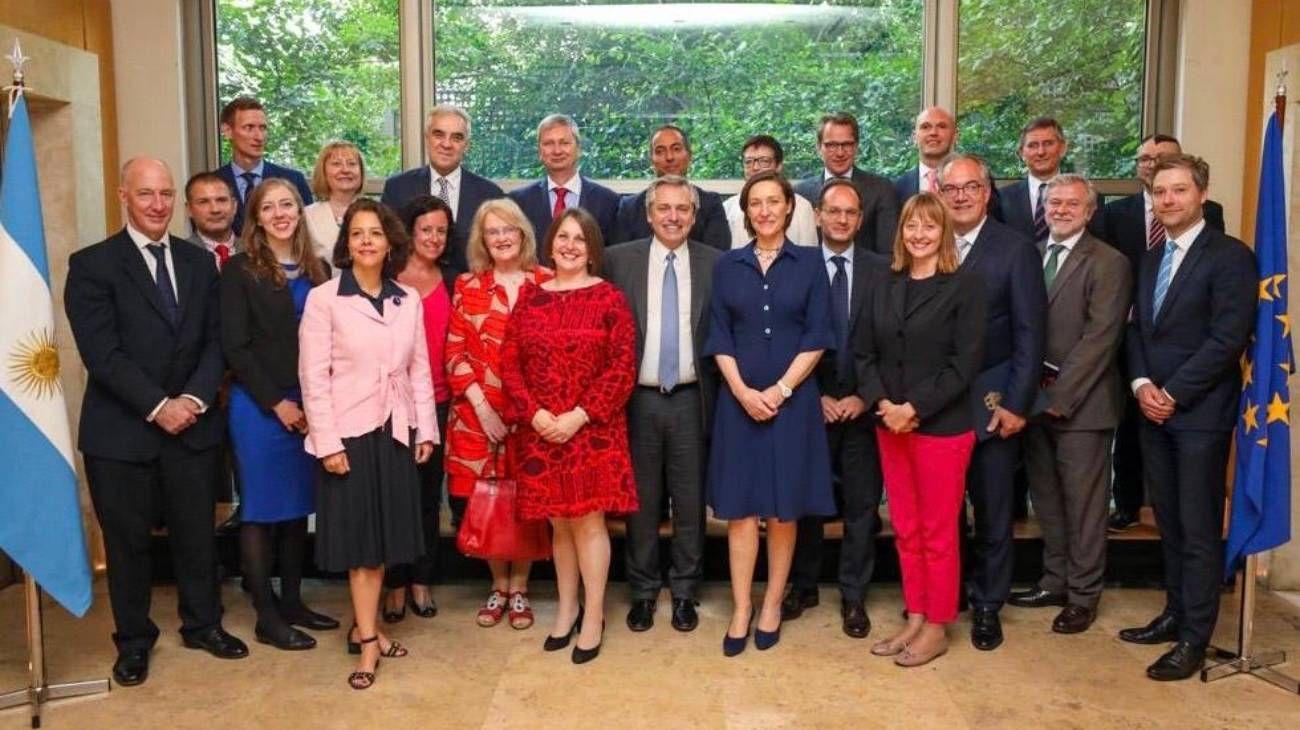 Alberto Fernández almorzó con más de 20 diplomáticos de la Unión Europea