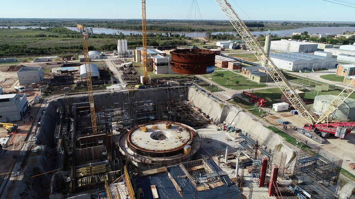 Construction at the Carem 25 nuclear reactor.