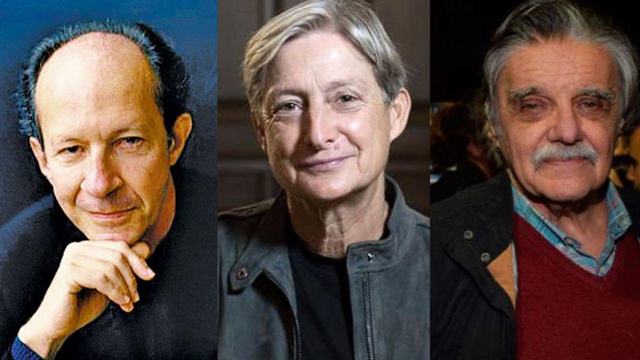 Giorgio Agamben, Judith Butler y Horacio González | Foto:Cedoc