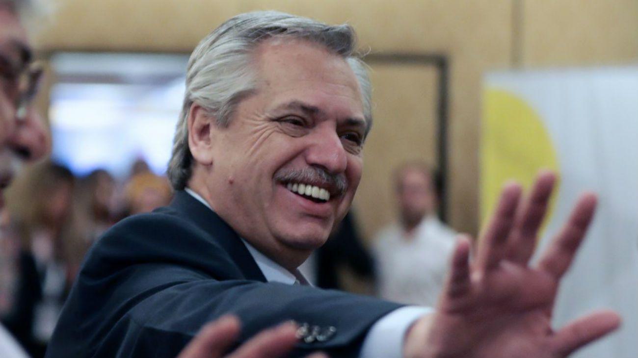 El presidente electo, Alberto Fernández.