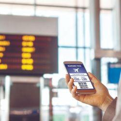 Siempre es aconsejable llevar la información de nuestro vuelo en el celular.